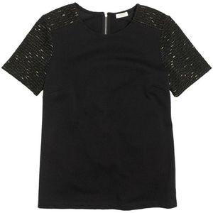 J Crew Tweed Sleeve T Shirt/Blouse